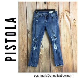 🐞Pistola Distressed & Faded Skinny Jean size 25